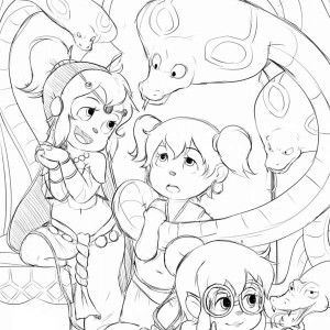 The Chipettes With Snakes Coloring Page