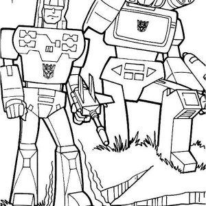 The Decepticons In Transformers Coloring Page