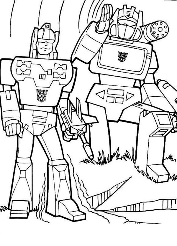 The Decepticons In Transformers Coloring Page Download