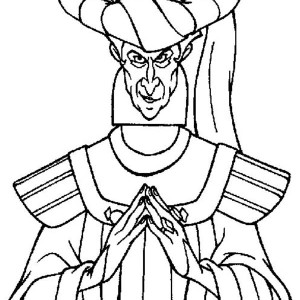 The Evil Claude Frollo From The Hunchback Of Notre Dame Coloring Page