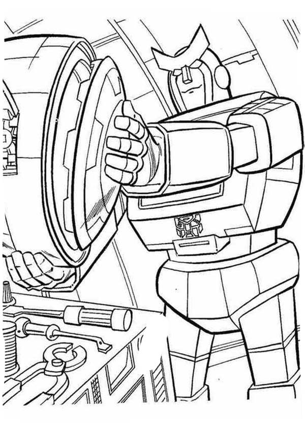 The Evil Decepticon Transformers Coloring Page Download