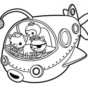 The Fun Adventures Of The Octonauts Coloring Page