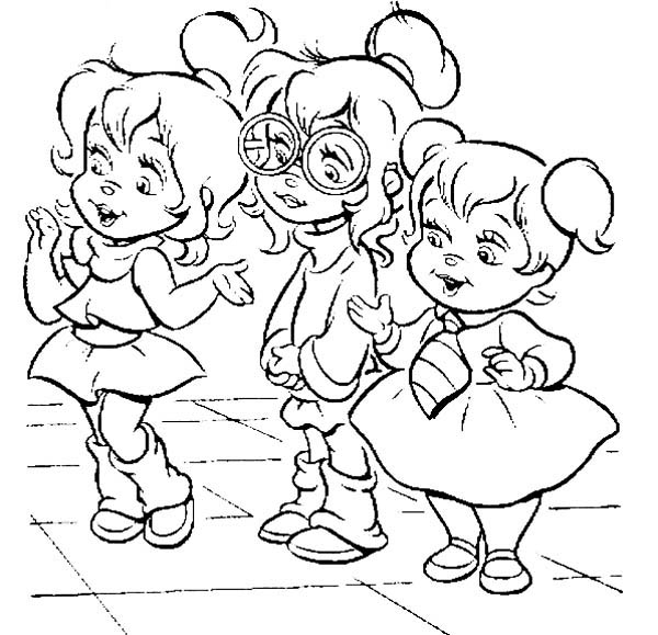 The Gorgeous Chipettes Coloring Page Download Print Online