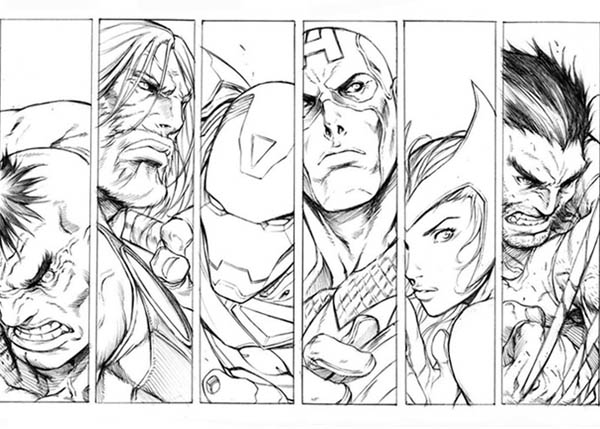 The Great Avengers Picture Coloring Page - Download & Print Online ...