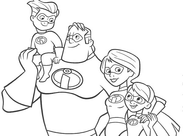 The Incredibles Family Coloring Page Download Print Online