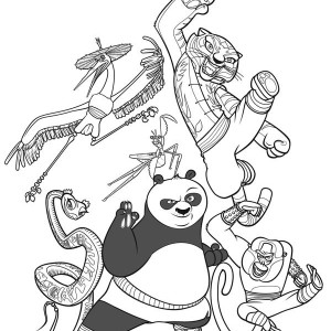The Legend Of Kung Fu Panda Coloring Page