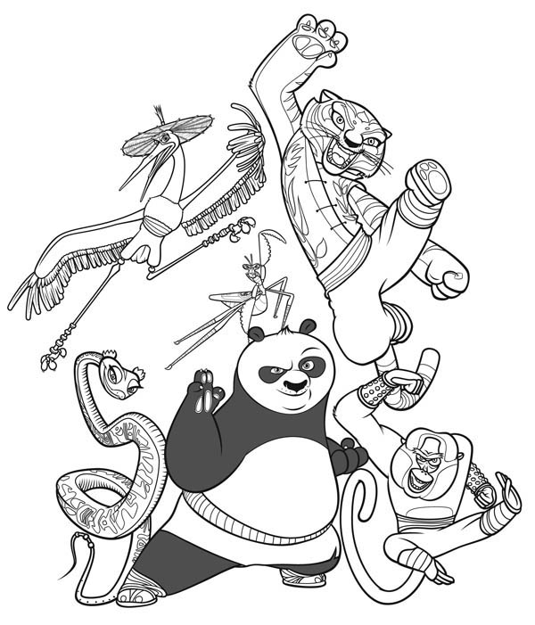 The Legend Of Kung Fu Panda Coloring Page - Download & Print