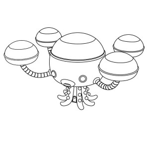 The Octopod from The Octonauts Coloring Page