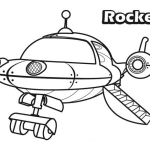 The Rocket In Little Einsteins Coloring Page