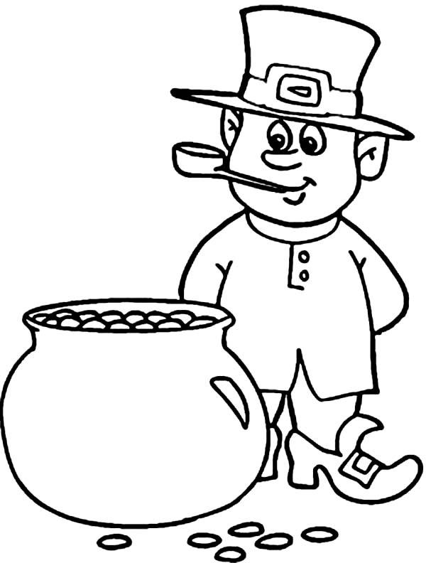 online leprechaun coloring pages - photo#22
