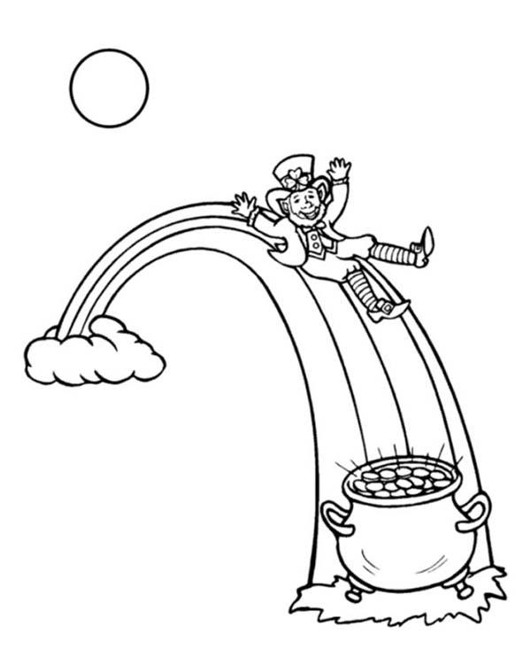 online leprechaun coloring pages - photo#31