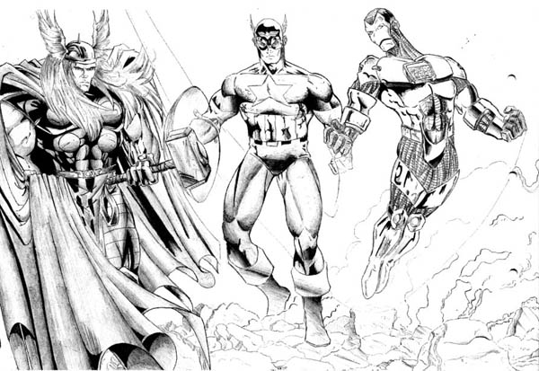thor and captain america and iron man in the avengers