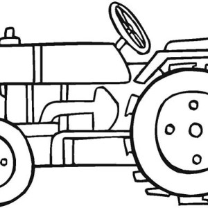 Tractor Picture Coloring Page