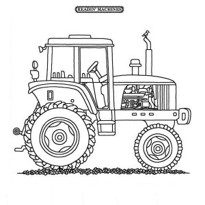 Tractor Spare Part Coloring Page