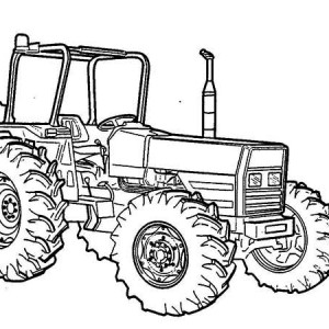 Tractor Vehicle Coloring Page
