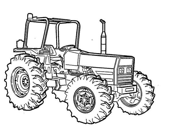 Tractor Vehicle Coloring Page Download Print Online