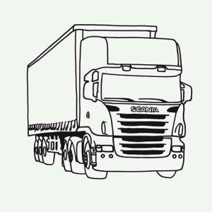 Tractor Trailer Semi Truck Coloring Page
