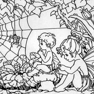 Two Rainforest Guardian Angel Coloring Page