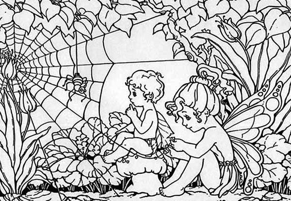 Two Rainforest Guardian Angel Coloring Page Download Print