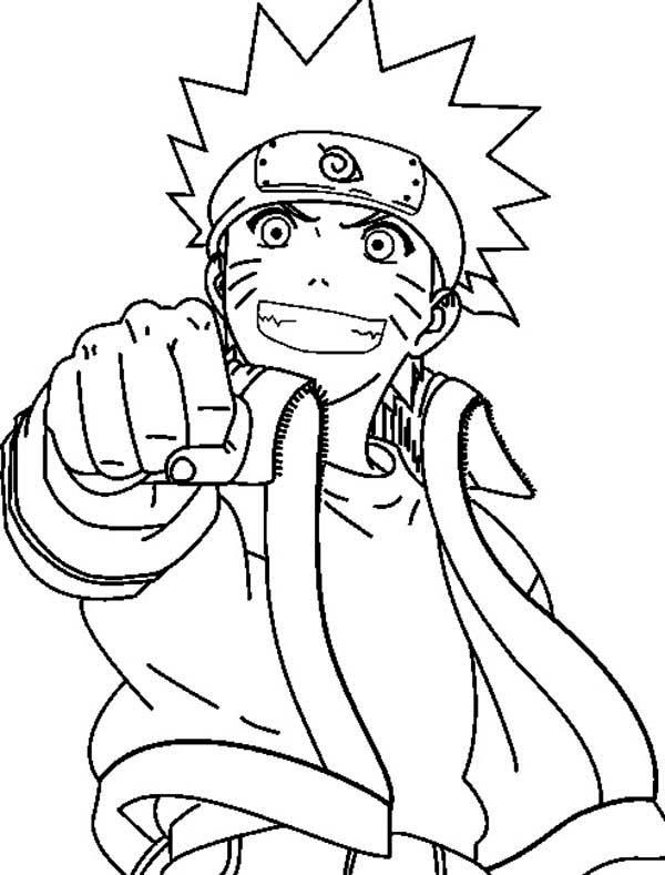 Uzumaki Naruto Fist Coloring Page Download Print Online Coloring