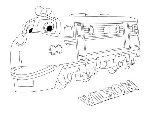 Wilson From Chuggington Coloring Page Download Print