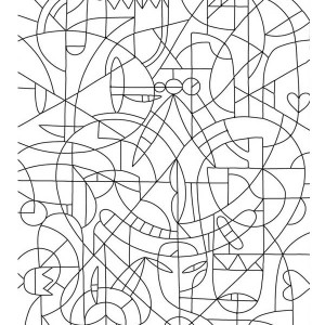 Abstract Mosaic Coloring Page