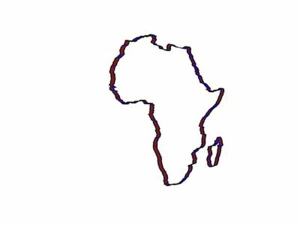 Map Of Africa Outline.Africa Continent Outline In World Map Coloring Page Download