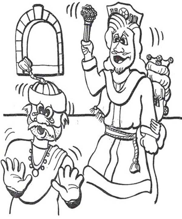 Ahasuerus The King Of Persia In Purim Coloring Page ...