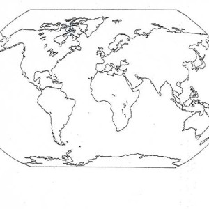 All Countries World Map Coloring Page