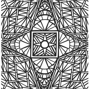 Amazing Picture Of Mosaic Coloring Page