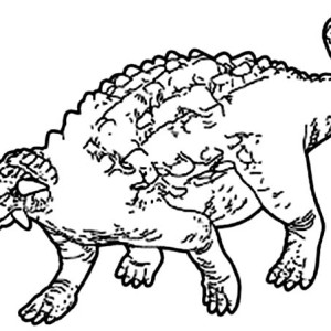 Ancient Animal Ankylosaurus Coloring Page