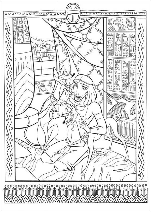 Ancient Egypt Mosaic Coloring Page Download Print Online