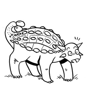 Ankylosaurus Is Surprised Coloring Page