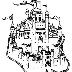 Awesome Sand Castle Coloring Page