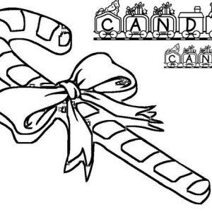 Beautiful Candy Cane Coloring Page