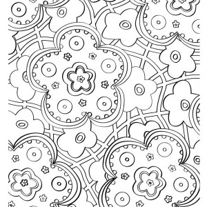 Beautiful Flower Mosaic Coloring Page