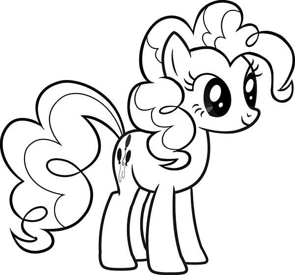 Beautiful Pinkie Pie From My Little Pony Coloring Page Download