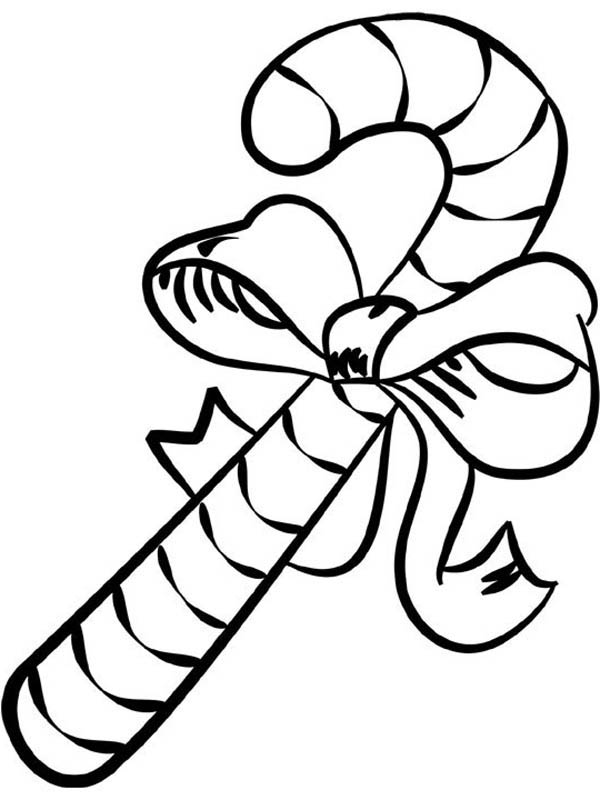 Big Candy Cane Coloring Page - Download & Print Online ...