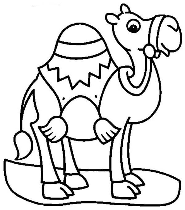 Camel For Transportation Coloring Page Download Print Online