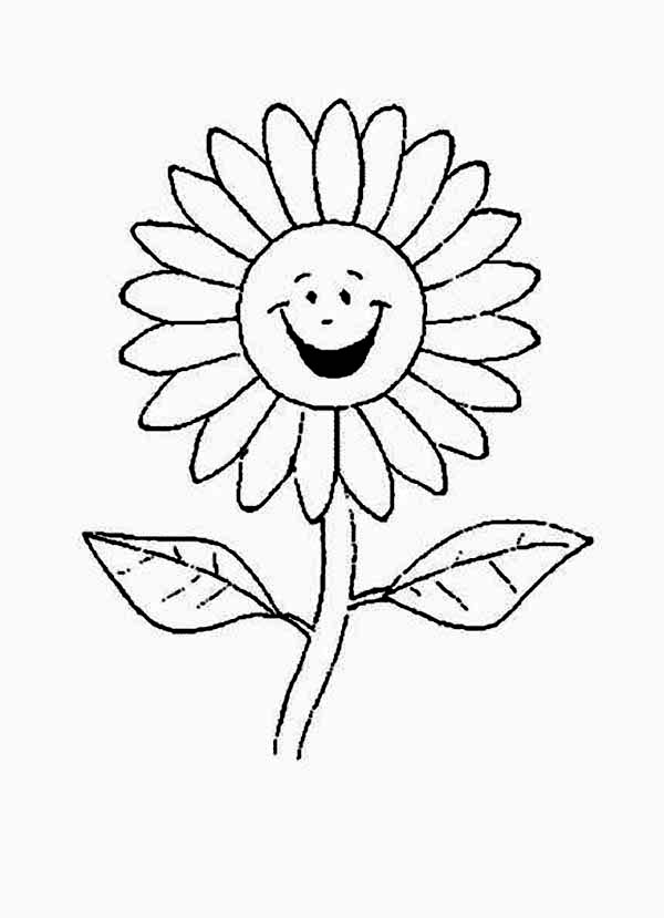 Cartoon Of Laughing Daisy Flower Coloring Page Download Print Rhcolornimbus: Coloring Pages Daisy Flowers At Baymontmadison.com