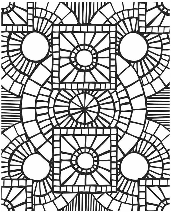 Free Mosaic Patterns Coloring Pages, Download Free Clip Art, Free ... | 747x600