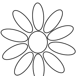 Daisy Flower Daisy Girl Scout Petals Coloring Page