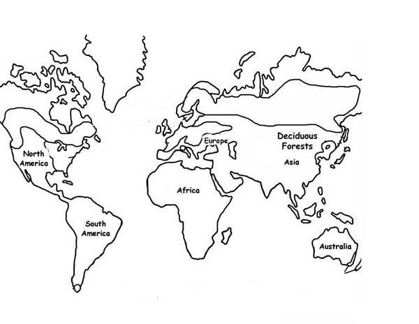 Exploring Nature Educational With World Map Coloring Page ...