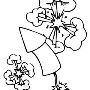 Fireworks Exploding In The Sky Coloring Page