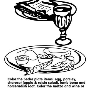 Have Fun In Passover Day Coloring Page