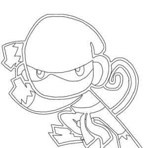 How To Draw A Ninja Coloring Page
