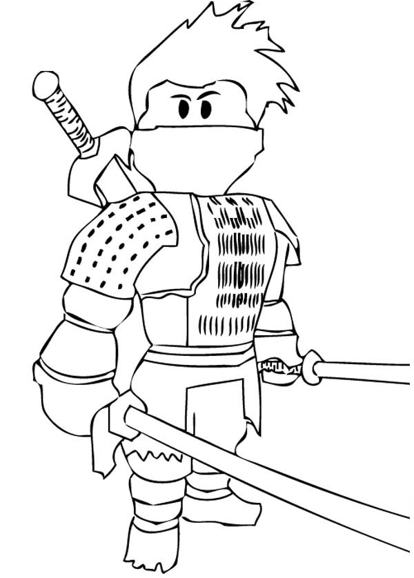 Japanese Ninja Coloring Page Download Amp Print Online