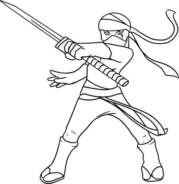 ninja cat coloring pages - photo#24