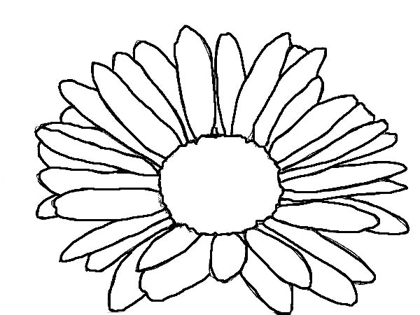 Kids Drawing Of Daisy Flower Coloring Page - Download ...