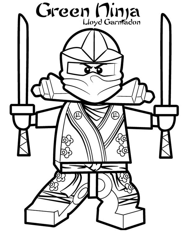 Lloyd Garmadon Ninjago Green Ninja Coloring Page Download Print - Green-ninja-coloring-pages